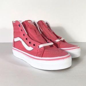 Vans Sk8-Hi Zip Heart Eyelet Strawberry Sneakers